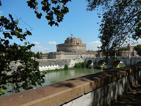 Castel Sant'angelo, Rome, Italy, Building, Monument