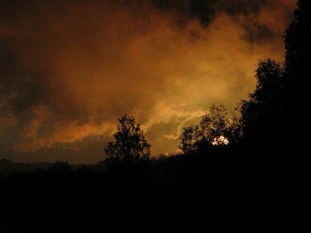 R, Usva, The Evening Sunset, Perm Krai, Nature