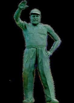 Cuba, Hemmingway, Statue, Sculpture, Png