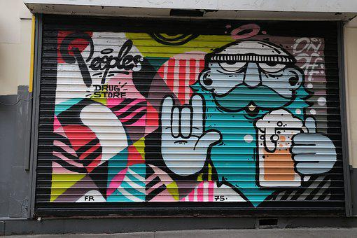 Garage, Street Art, Art, Architecture, City, Building