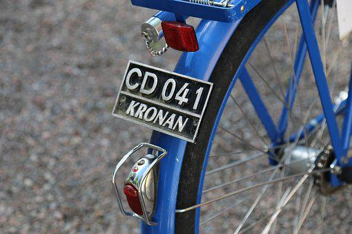 Cycle, Blue, Sign, Spokes, Wheel, Tires, Lamp