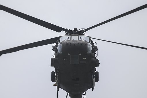 Uh-60 Black Hawk, Helicopter, Flight, Flying, Aerial