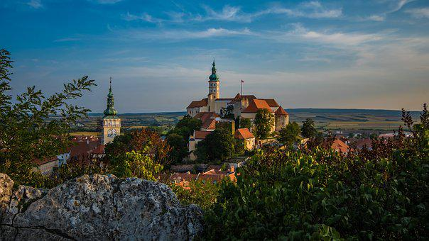 Mikulov, Old Town, Czech Republic, Architecture, Castle