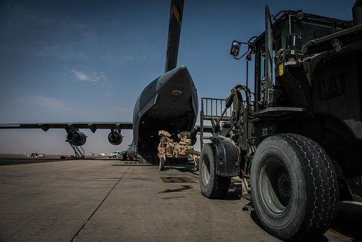 C-17 Globemaster Iii, Cargo, Load, Military, Army