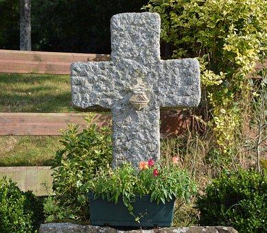 Stone Cross, Baguer Morvan, Brittany, Belief, Religion