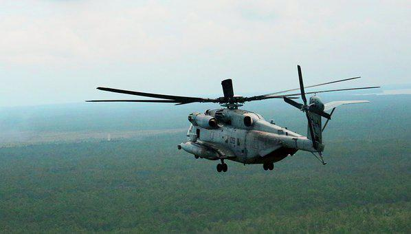 Ch-53e Super Stallion, Helicopter, Heavy Lift, Flying