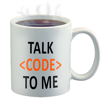 Code Geek, Talk Code To Me, Coffee Cup, Programmer