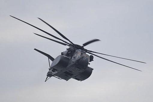 Mh-53 Sea Dragon, Flight, Aircraft, Flying, Formation