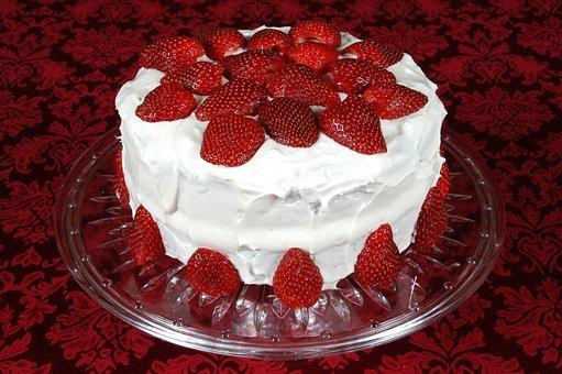Cake, Strawberry, Dessert, Food, Sweet, Tasty, Fruit