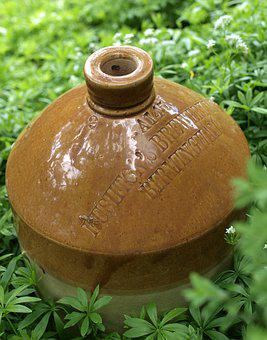 Jug, Beer Keg, Ceramic, Bottle