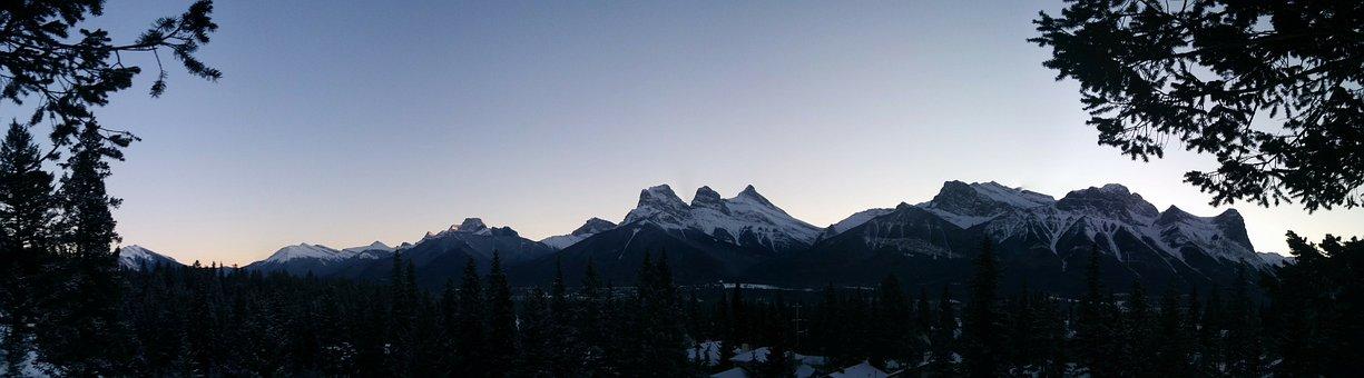 Mountains, Sky, Alberta, Landscape, Tourism, Scenery