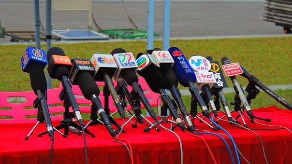 Hongkong, Press, Media, Microphone, Work, News, Sound