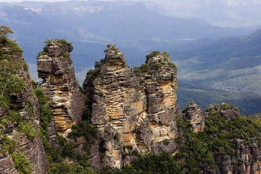 Three Sisters, Mountains, Rocks, Blue Mountain