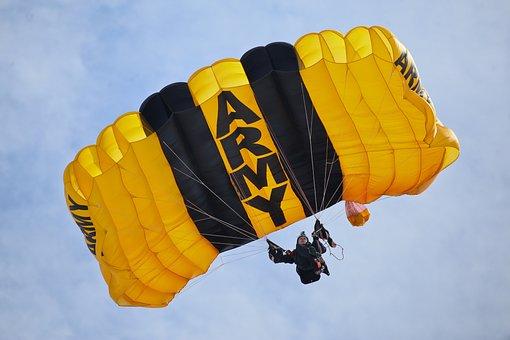 United States Army Parachute Team, Parachute, Skydive
