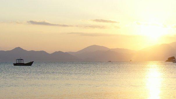 Sunset, Sea, Summer, Landscape, Soltse, Sun, Horizon