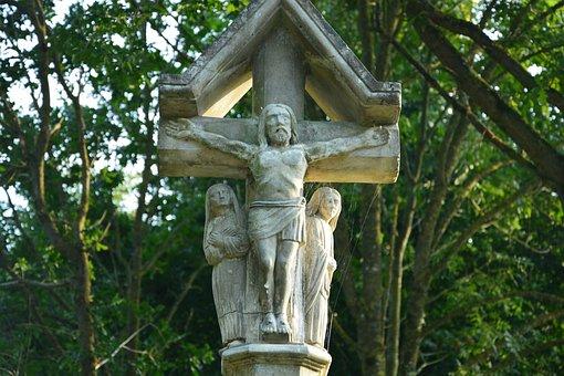 Statue Stones, Religious, St Leonard Britain, France