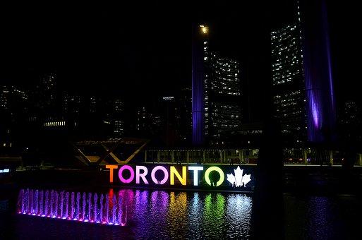 Toronto, Night, Reflection, Tourism