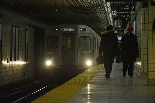 Toronto, Train, Canada, Urban, City, Transportation