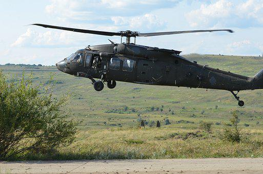 Uh-60 Black Hawk, Helicopter, Flight, Army