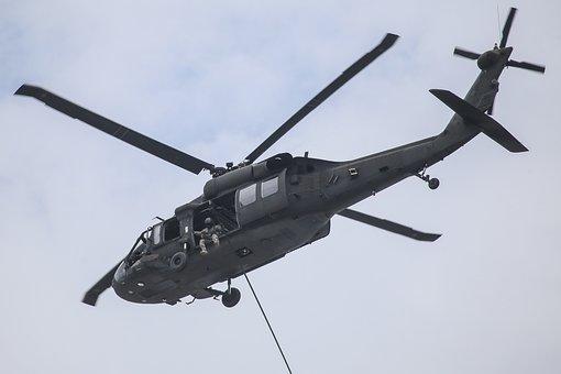 Uh-60 Blackhawk, Flight, Rope, Spec Ops, Flying