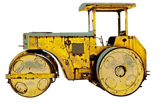 Roll, Road Roller, Old, Work Machine, Compaction