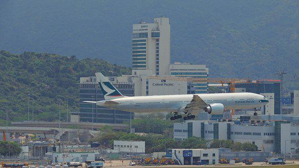 Hongkong, Airplane, Travel, Airport, Asia, Architecture