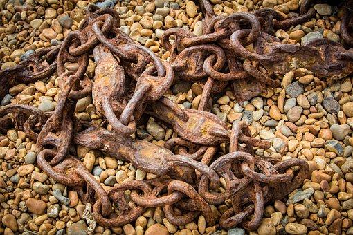 Chain, Rust, Metal, Industrial, Anchor, Metallic