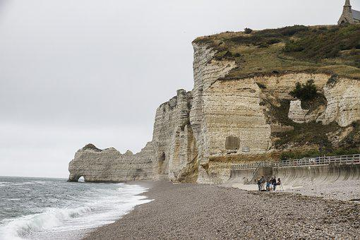 Etretat, Normandy, Rocky Coast, Rock, Cliff