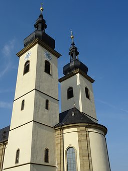 Steeple, Church, Building, Catholic, Clock Tower