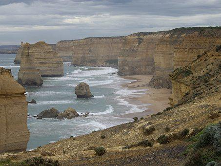 Apostles, Great Ocean Road, Sea, Coast, Landmark