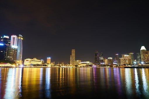 Singapore, Buildings, Long Exposure, Contemporary