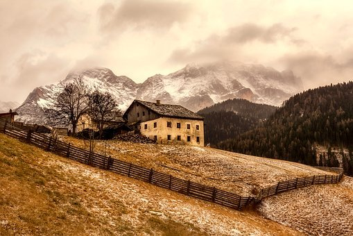 Italy, Cottage, House, Home, Mountains, Valley, Farm