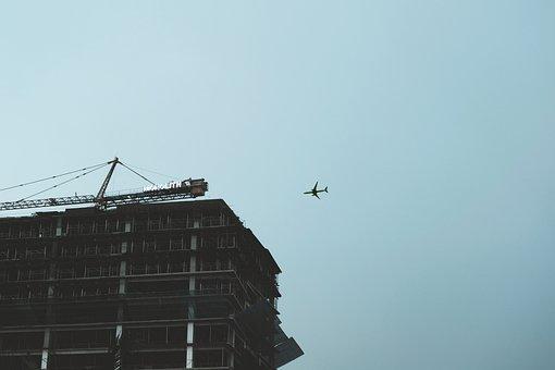 Airplane, Sky, Building, Plane, Flight, Air, Aircraft