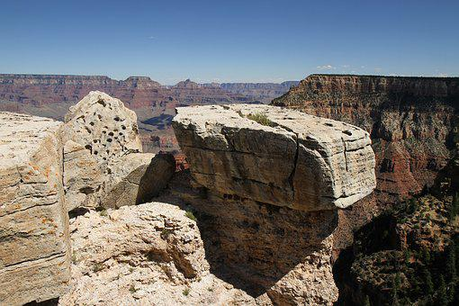 Grand Canyon, Rock, Sand Stone, Nature, Mountains