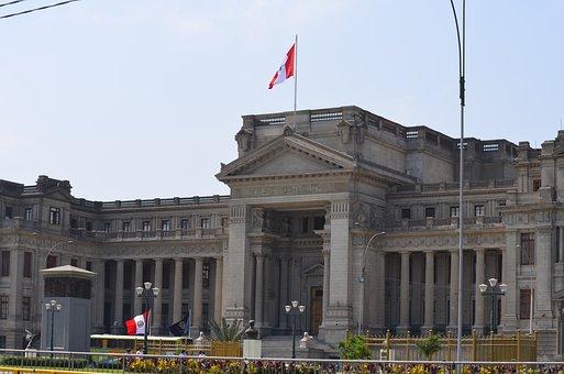 Palace, Justice, Lime, Peru, City, Sky, Lima City