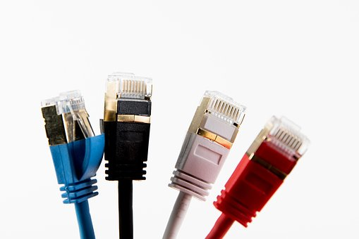 Network, Patch Cable, Rj-45, Rj45, Data Processing