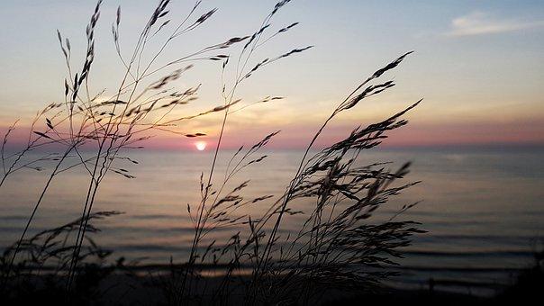 The Ecclesia, Sea, Grass, West, The Sun, Sunset