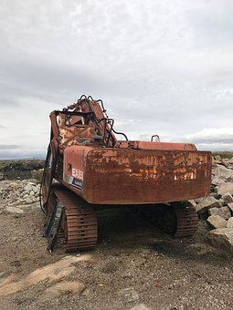 Technology, Excavators, Stainless, Construction Machine