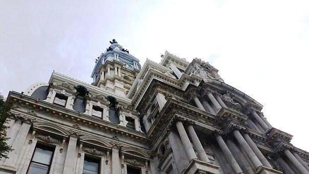 Philadelphia, City, Hall, Urban, Pennsylvania, Sky