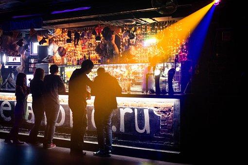Club, Bar, Music, Light, People, Shadow, Address By