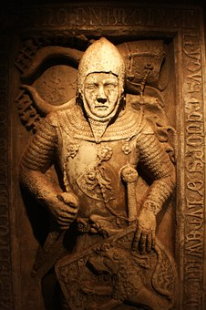 Knight, Middle Ages, Grave, Stone, Latin, Armor, Helm