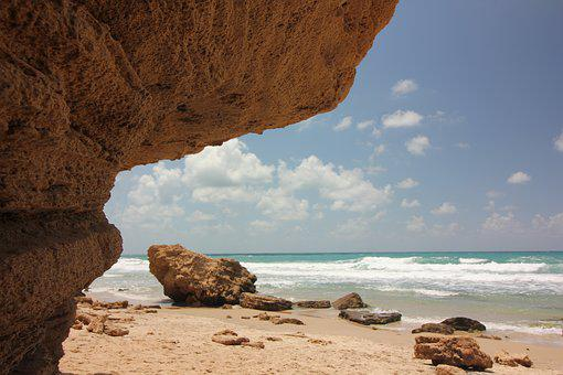 Sky, Clouds, Sea, Ocean, Seashore, Waves, Beach, Sand