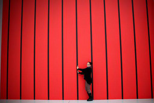 Horizontal Stripes, Red, Black, Fool Around, Background