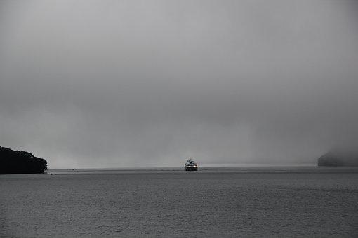 Fog, Mist, Scary, Black Water, Dark, Weather, Mystery
