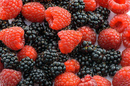 Raspberries, Fruits Of The Forest, Blackberries