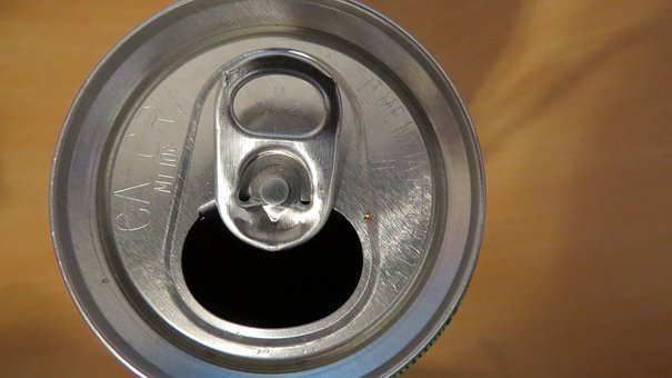 Can, Aluminum, Top, Opened, Container, Tin, Drink