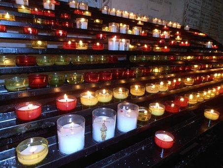 Candles, Prayer, Church, Faith, Lights, Light
