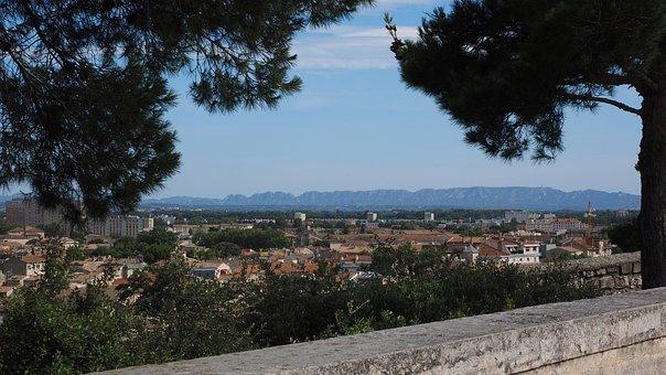 View, Distant View, Alpilles, Chaine Of The Alpilles