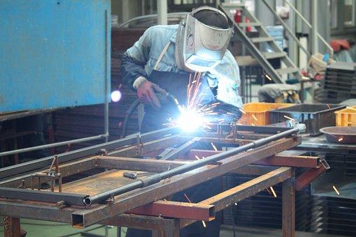 Welding, Factory, Produce, Palette, Worker, Work, Days