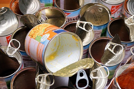 Cans, Empty Cans, Tin Cans, Eat, Food, Canning, Corn